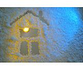 Winter, House, Decoration, Window Glass