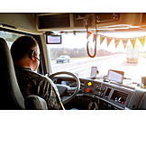 Trucker, Lastwagenfahrer, Lkw-fahrer
