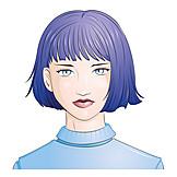Woman, Medium Length Hair, Serious