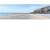 Beach, Normandy, Rocky Coastline