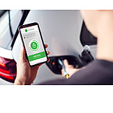 Recharge, Smart phone, Electric car, App