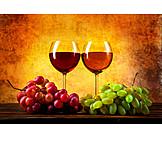 Wine, Wine Glass, Grapes