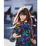 Young Woman, Online, Smart Phone