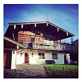 House, Farm, Mountain Lodge