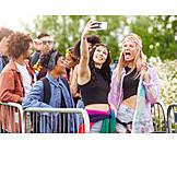Freundinnen, Musikfestival, Selfie