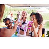 Drinking, Summer, Festival, Friends