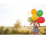 Summer, Hiding, Balloons
