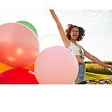 Laughing, Carefree, Balloons