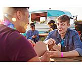 Essen, Sommer, Festival, Freunde