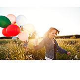 Summer, Friends, Balloons