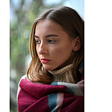 Young Woman, Pensive, Depression