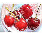 Water, Cherry, Carbonic