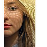 Woman, Sun Hat