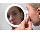 Hautpflege, Wattepad, Abschminken