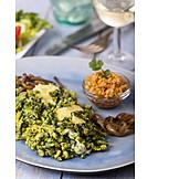Mittagessen, Schwäbische Küche, Spinatspätzle