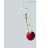 Water, Cherry, Water Bubbles