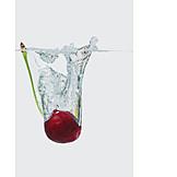 Water, Cherry, Splash