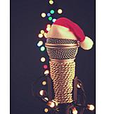 Music, Christmas, Microphone