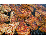 Grilled Meat, Barbecue, Barbecue Steak