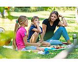 Zuhören, Picknick, Geschwister