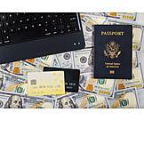 Finanzen, Reisepass, Usa, Online-banking