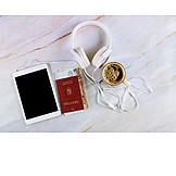 Reisepass, Verreisen, Bargeld, Multimedia