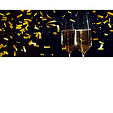 Silvester, Champagner, Konfetti