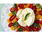 Italienische Küche, Büffelmozzarella, Caprese