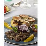 Griechische Küche, Mittagessen, Lammfleisch