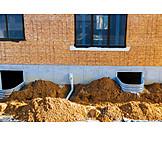 Hausbau, Kellerfenster, Fensterschacht