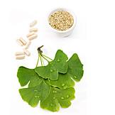 Heilpflanze, Ginkgoblatt, Naturheilkunde, Dragees