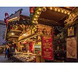 Weihnachtsmarkt, Verkaufsstand, Süßwaren