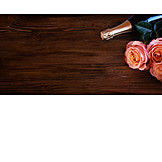 Valentinstag, Champagner, Rosen