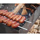 Broiling, Bbq Sausage, Barbecue