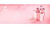Geschenk, Valentinstag, Duftkerze