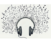 Music, Headphones, Musical Note