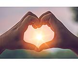 Sunbeams, Heart, Evening Sun