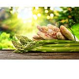 Spargel, Grüner Spargel, Saisongemüse