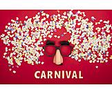 Mask, Carnival, Confetti, Pumpkin Carnival