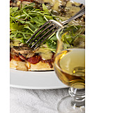 Weißwein, Pizza