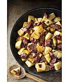 Rindfleisch, Bratkartoffel, Bauernfrühstück