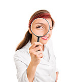 Research, Examination, Magnifying Glass, Surveillance