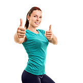 Woman, Fitness, Thumbs Up