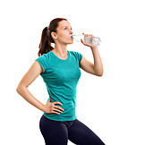 Woman, Drinking, Water, Sports Training
