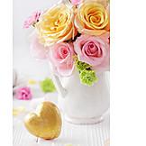 Herz, Blumenstrauß, Muttertag