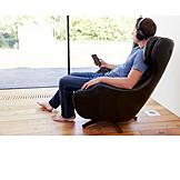 Zuhause, Entspannung, Musik Hören