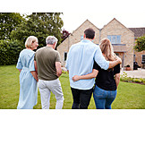 Garten, Spaziergang, Familie, Gemeinsam