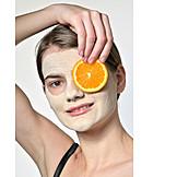 Hautpflege, Schönheitspflege, Gesichtsmaske