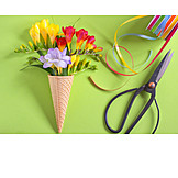Flowers, Ice Cream Cone
