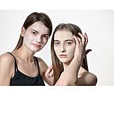 Mädchen, Schönheitspflege, Gesichtsmaske